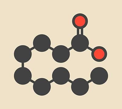 Pelargonic Acid Molecule Poster by Molekuul