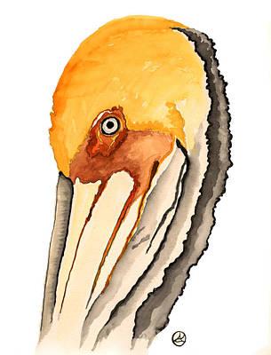 Pelican Poster by Alexandra  Sanders