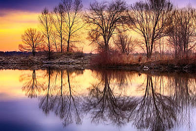 Pella Crossing Sunrise Reflections Hdr Poster by James BO  Insogna