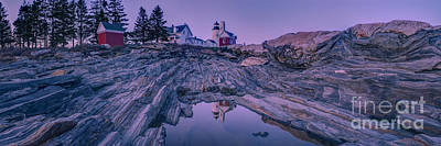 Pemaquid Light Reflections Poster by Abe Pacana