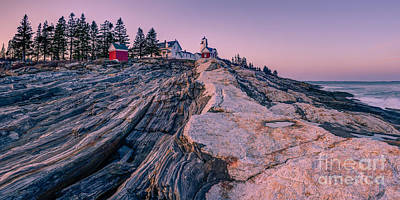 Pemaquid Light Sunset Poster by Abe Pacana