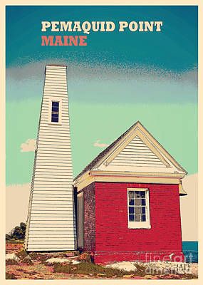 Pemaquid Point Bellhouse Poster