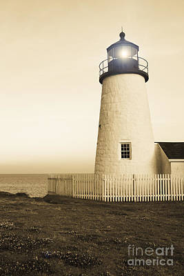 Pemaquid Point Lighthouse Poster by Diane Diederich