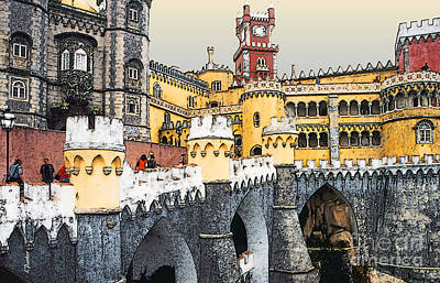 Pena Palace - Sintra Portugal Poster by Linda  Parker