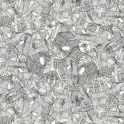 Pencil Parcels Ivory Poster
