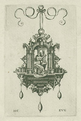 Pendant Pendeloque With Fortitudo Poster by H. Collaert
