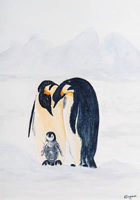 Penguin Family Poster by Elvira Ingram