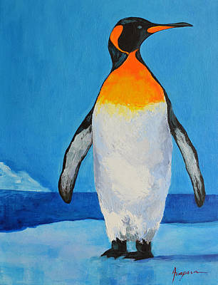 Penguin King Carl Poster by Patricia Awapara