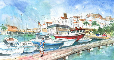 Peniscola Harbour 01 Poster by Miki De Goodaboom