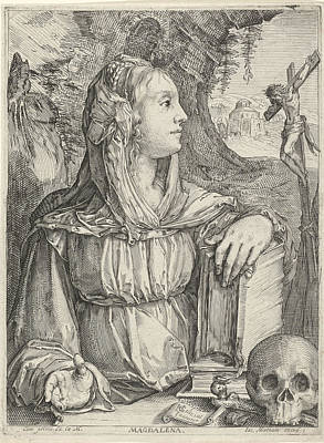 Penitent Mary Magdalene, Jacob Matham Poster