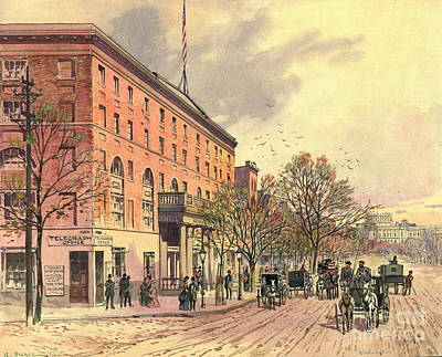 Pennsylvania Avenue And 6th Street 1860 Poster