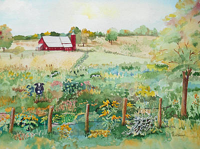 Pennsylvania Pasture Poster by Christine Lathrop