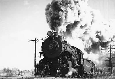 Pennsylvania Railroad Locomotive, 1941 Poster