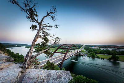 Pennybacker Bridge Austin Poster by David Morefield
