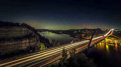Pennybacker Bridge Poster by David Morefield