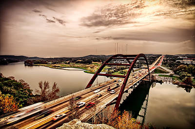 Pennybacker Bridge Sunset Poster