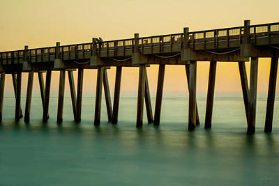Pensacola Beach Fishing Pier Poster