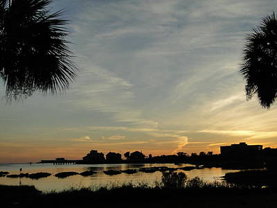 Pensacola Sunset Poster by Cindy Croal