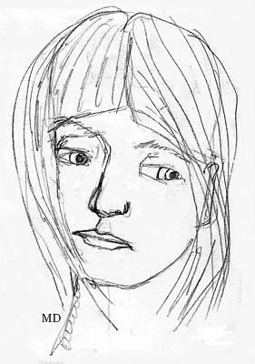 Pensive Girl Poster