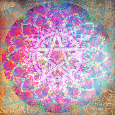 Pentacle Mandala  Poster by Sacred  Muse