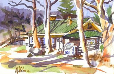 Penuel Lodge In Winter  Poster by Kip DeVore