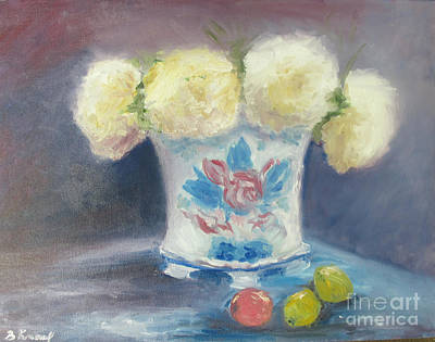 Peonies In China Vase Poster by Barbara Anna Knauf