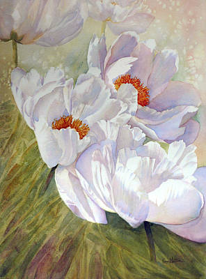 Peony Party  Poster by Karen Mattson