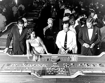 People At Craps Table Poster