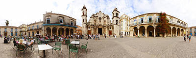 People At Plaza De La Catedral Poster by Panoramic Images