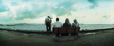 People Looking Out On The Bosphorus Poster by Panoramic Images