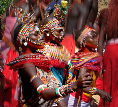 People Of The Samburu Tribe Poster by Panoramic Images