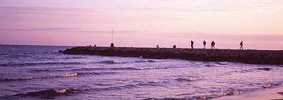 People On A Jetty In The Sea, Sitges Poster by Panoramic Images