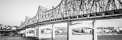 Peoria Bridge Panoramic Black And White Picture Poster by Paul Velgos