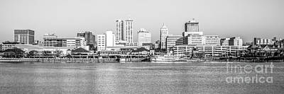 Peoria Panorama Black And White Photo Poster by Paul Velgos