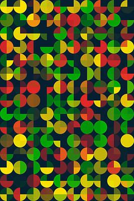 Pepper Geometric Circle Pie Vertical Pattern Poster by Frank Ramspott
