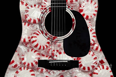 Peppermint Abstract Guitar Poster