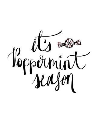 Peppermint Season Poster by Tara Moss