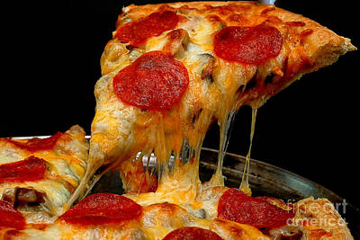 Pepperoni Pizza Slice Poster