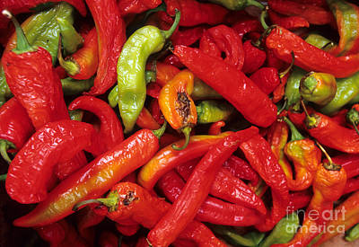 Peppers At Street Market Poster