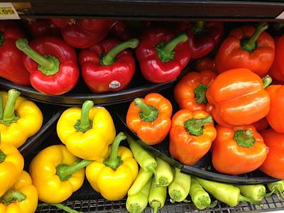 Peppers Please  Poster by Bonnes Eyes Fine Art Photography