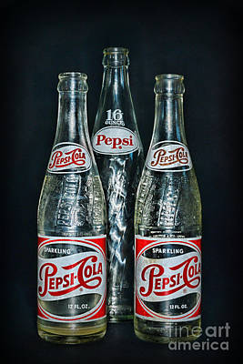 Pepsi Bottles From The 1950s Poster