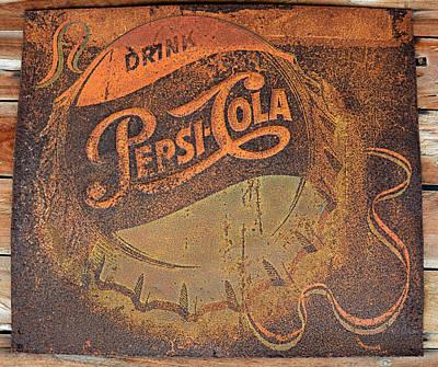 Pepsi Cola Rust Poster