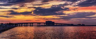 Perdido Bridge Sunrise Poster by Michael Thomas