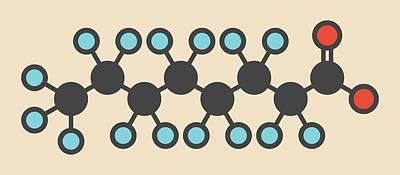 Perfluorooctanoic Acid Molecule Poster