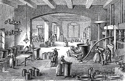 Perfume Factory, 19th Century Poster by Science Source