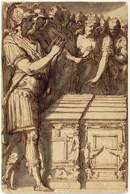 Perino Del Vaga Italian, 1501 - 1547, Alexander Poster by Quint Lox