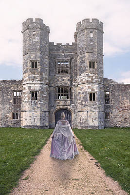 Period Lady In Front Of A Castle Poster by Joana Kruse