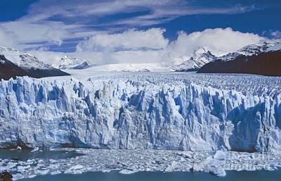 Poster featuring the photograph Perito Moreno Glacier Argentina by Rudi Prott