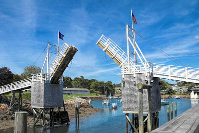 Perkins Cove Drawbridge Poster by Jemmy Archer
