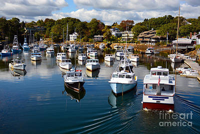 Perkins Cove Poster by Mary Ann Tardif